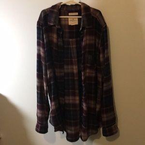 Flannel soft American eagle shirt